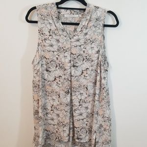 Sleeveless Floral Blouse Top
